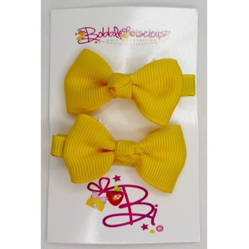 Yellow 4cm Bow Clasps
