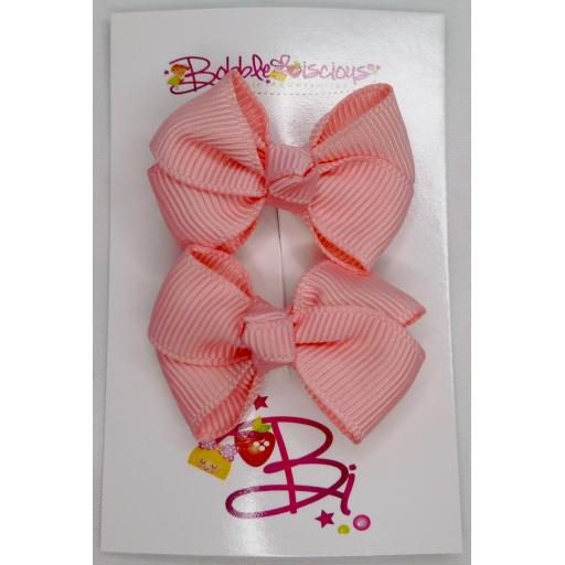 Sweet Pink 4cm Bow Clasps